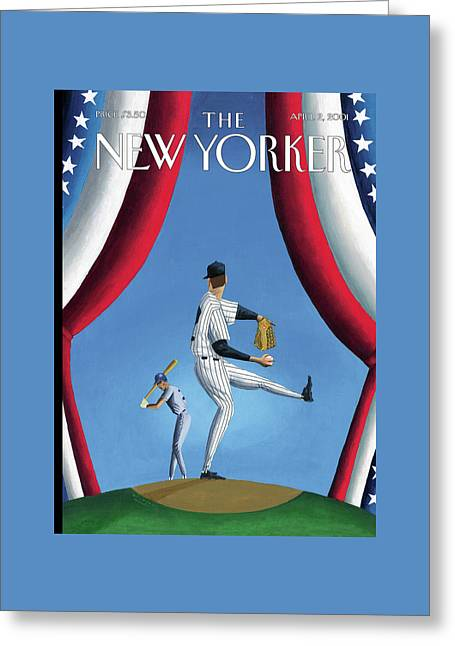 New Yorker April 2nd, 2001 Greeting Card by Mark Ulriksen