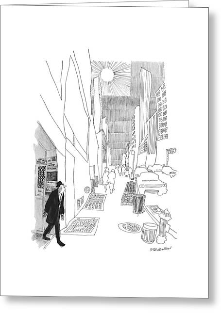 New Yorker April 3rd, 1965 Greeting Card by James Stevenson