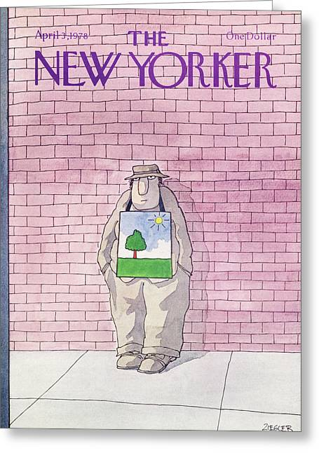 New Yorker April 3rd, 1978 Greeting Card