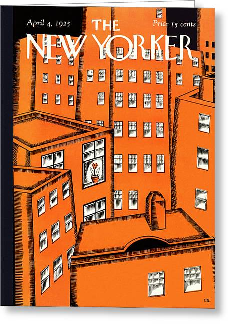 New Yorker April 4 1925 Greeting Card