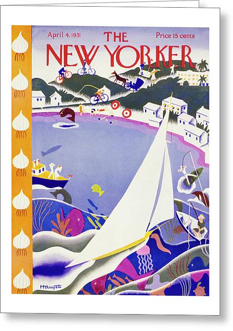 New Yorker April 4 1931 Greeting Card
