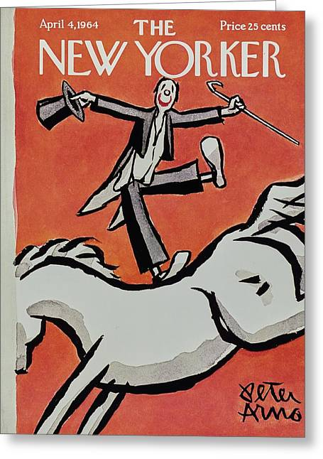 New Yorker April 4th 1964 Greeting Card
