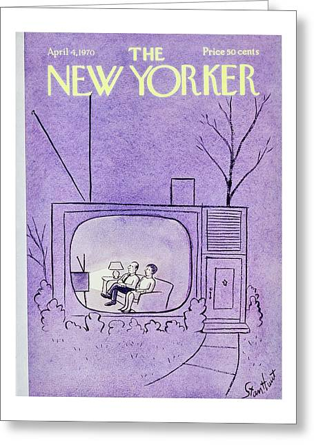 New Yorker April 4th 1970 Greeting Card