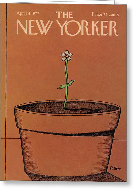 New Yorker April 4th, 1977 Greeting Card