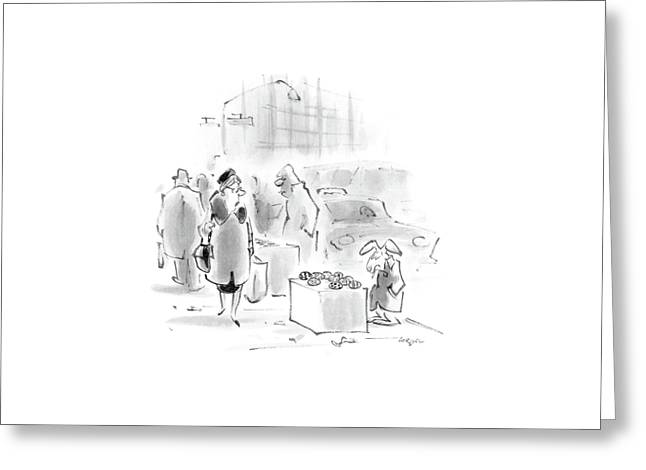 New Yorker April 4th, 1988 Greeting Card by Lee Lorenz
