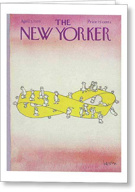 New Yorker April 5th, 1976 Greeting Card