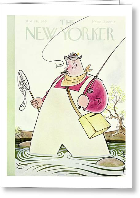 New Yorker April 6 1940 Greeting Card