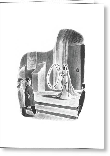New Yorker April 6th, 1940 Greeting Card by Richard Taylor