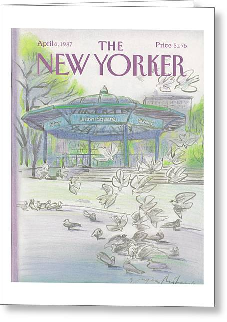 New Yorker April 6th, 1987 Greeting Card