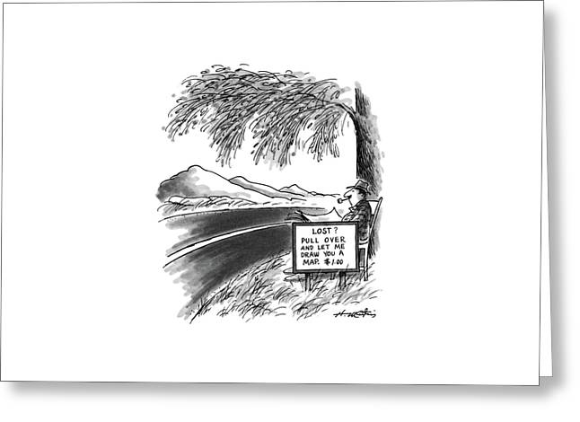 New Yorker April 6th, 1987 Greeting Card by Henry Martin