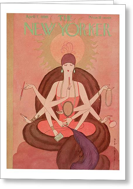 New Yorker April 7th, 1928 Greeting Card