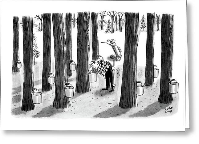 New Yorker April 7th, 1962 Greeting Card by Robert J. Day