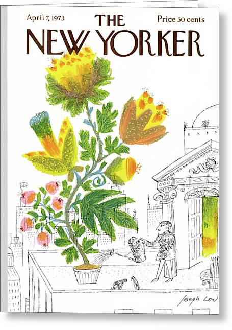 New Yorker April 7th, 1973 Greeting Card