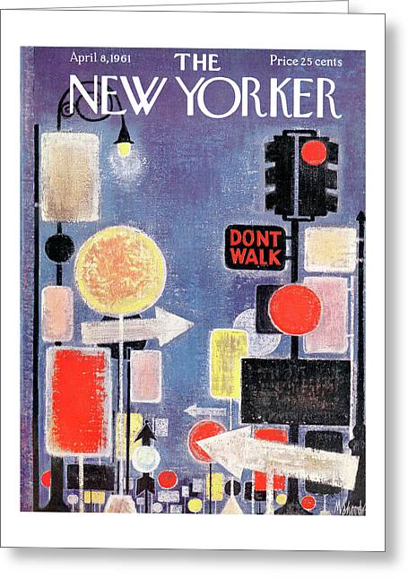 New Yorker April 8th, 1961 Greeting Card