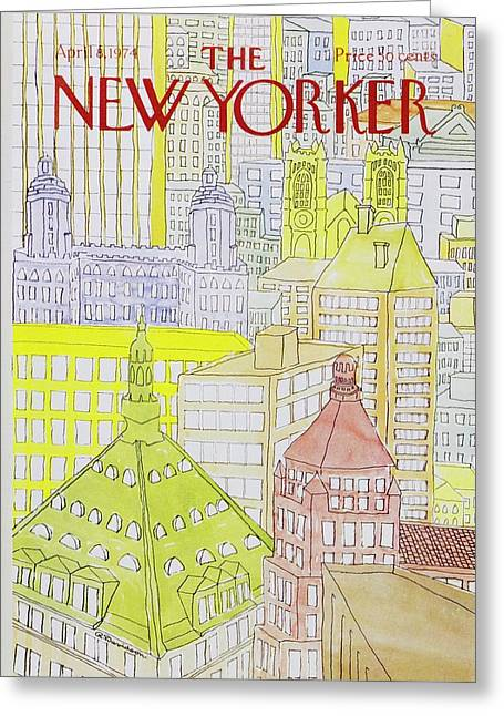 New Yorker April 8th 1974 Greeting Card