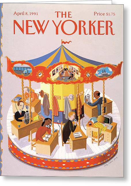 New Yorker April 8th, 1991 Greeting Card by Kathy Osborn