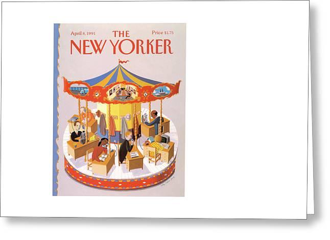 New Yorker April 8th, 1991 Greeting Card by Kathy Osborn