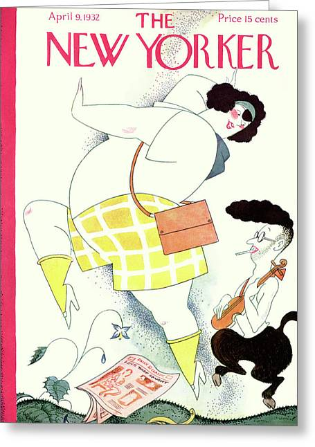 New Yorker April 9th, 1932 Greeting Card by Rea Irvin