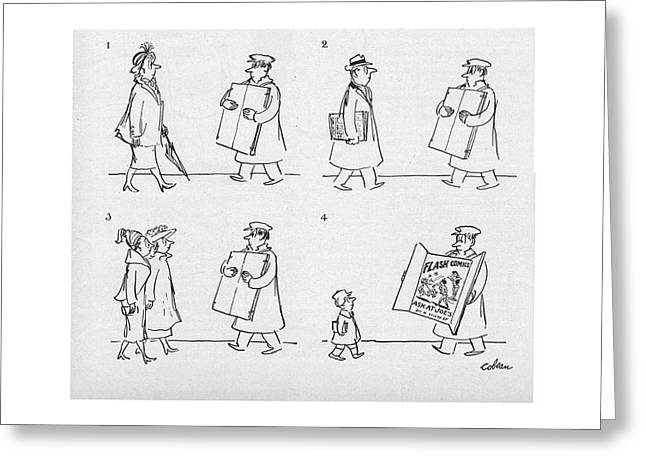 New Yorker April 9th, 1949 Greeting Card