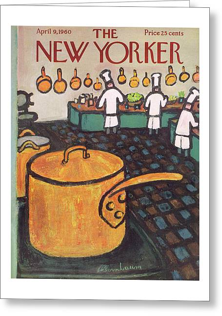 New Yorker April 9th, 1960 Greeting Card