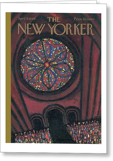 New Yorker April 9th, 1966 Greeting Card