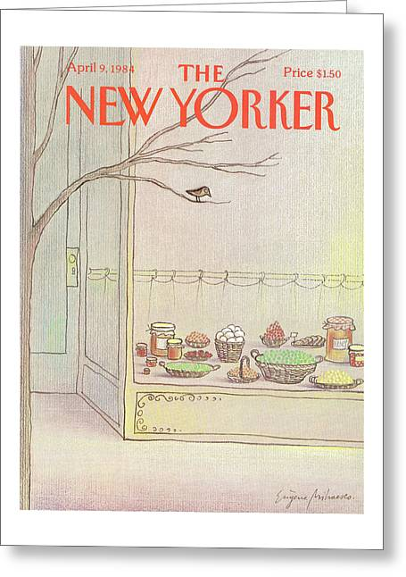 New Yorker April 9th, 1984 Greeting Card