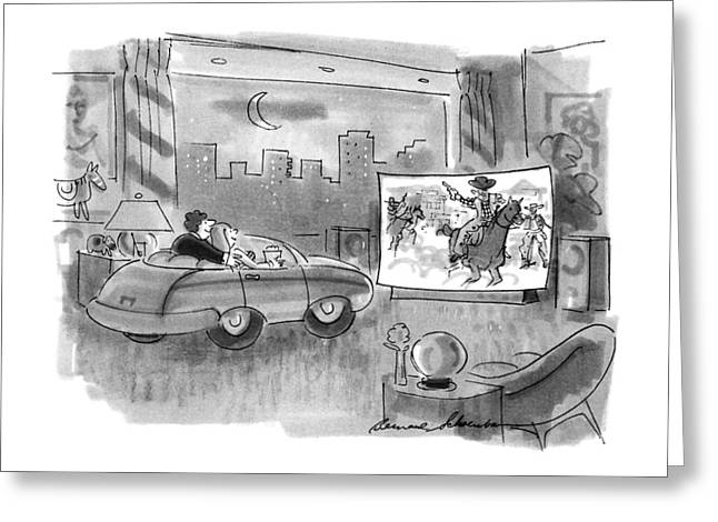 New Yorker April 9th, 1990 Greeting Card by Bernard Schoenbau