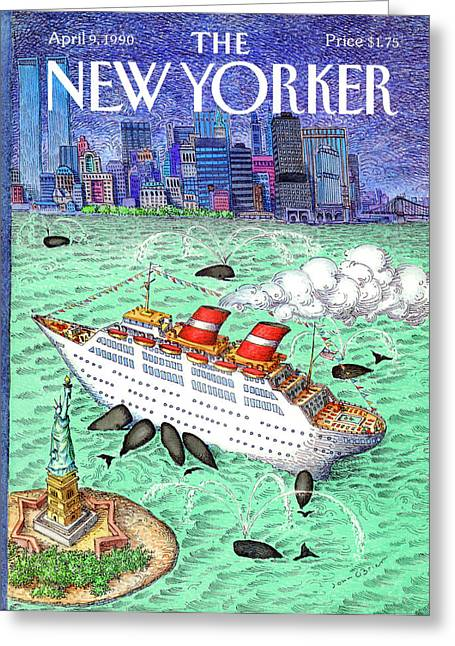 New Yorker April 9th, 1990 Greeting Card