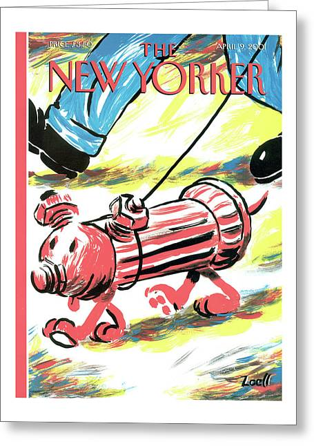 New Yorker April 9th, 2001 Greeting Card