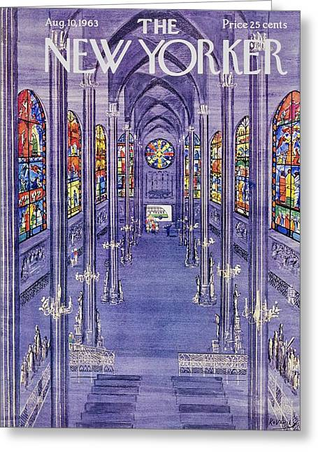 New Yorker August 10th 1963 Greeting Card