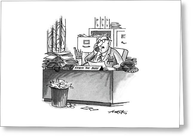 New Yorker August 10th, 1987 Greeting Card