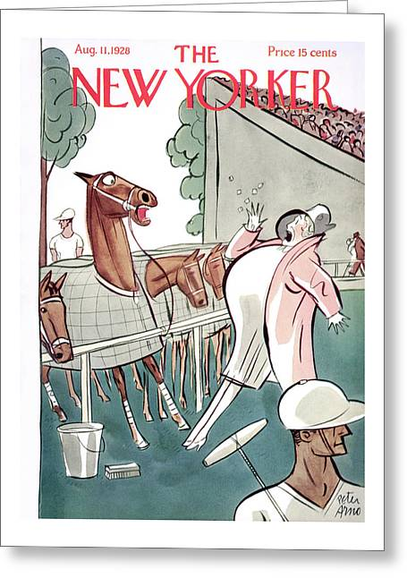 New Yorker August 11th, 1928 Greeting Card