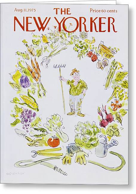 New Yorker August 11th 1975 Greeting Card