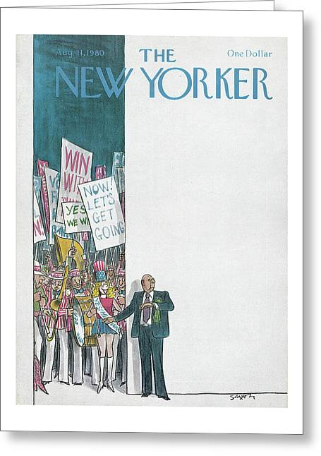 New Yorker August 11th, 1980 Greeting Card