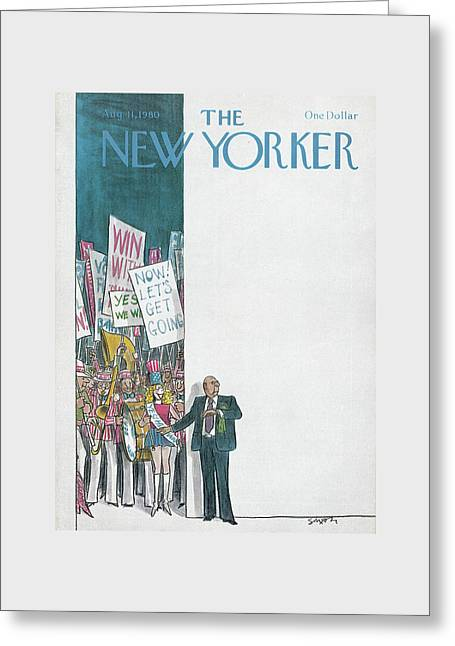 New Yorker August 11th, 1980 Greeting Card by Charles Saxon