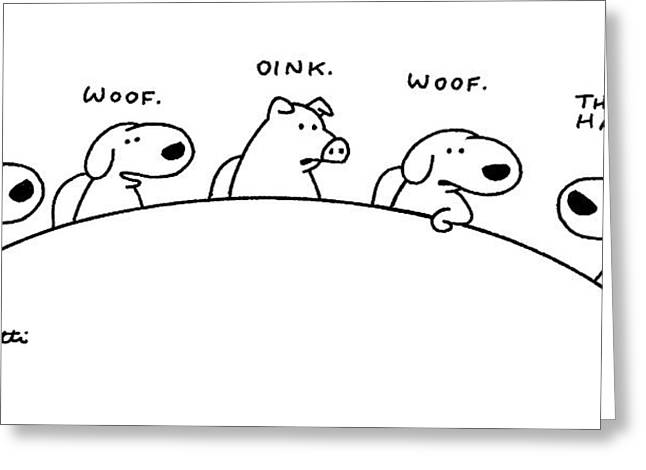 New Yorker August 11th, 1997 Greeting Card by Charles Barsotti