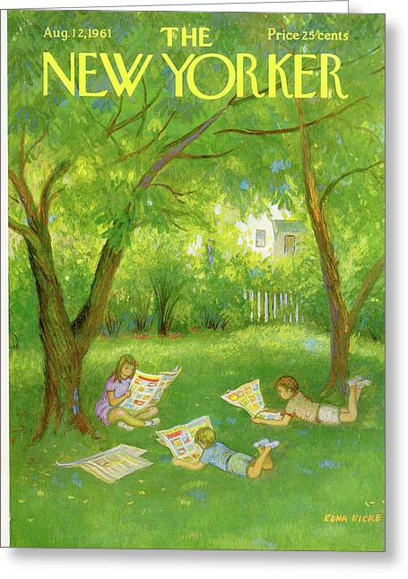 New Yorker August 12th, 1961 Greeting Card by Edna Eicke