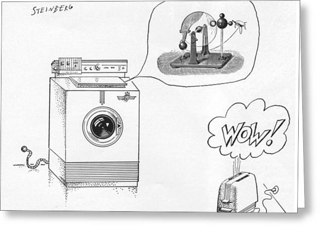 New Yorker August 12th, 1961 Greeting Card by Saul Steinberg
