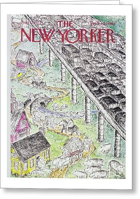 New Yorker August 12th 1972 Greeting Card
