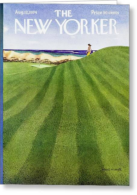 New Yorker August 12th 1974 Greeting Card by Albert Hubbell