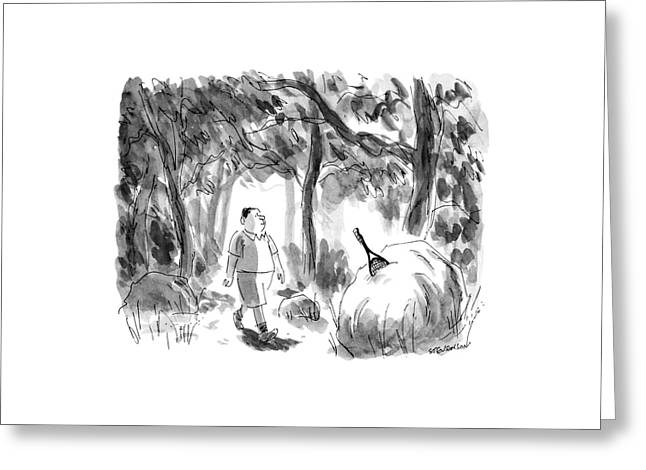 New Yorker August 12th, 1991 Greeting Card by James Stevenson
