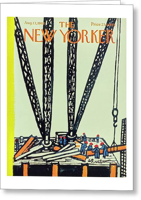 New Yorker August 13th 1960 Greeting Card