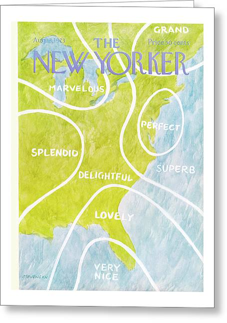 New Yorker August 13th, 1973 Greeting Card