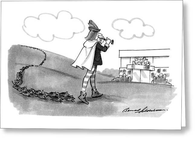 New Yorker August 13th, 1990 Greeting Card by Bernard Schoenbaum