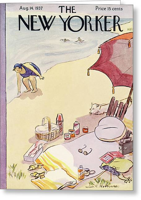 New Yorker August 14th, 1937 Greeting Card