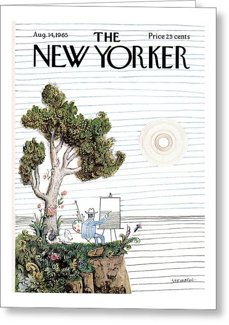 New Yorker August 14th, 1965 Greeting Card