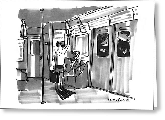 New Yorker August 14th, 1995 Greeting Card by Michael Crawford