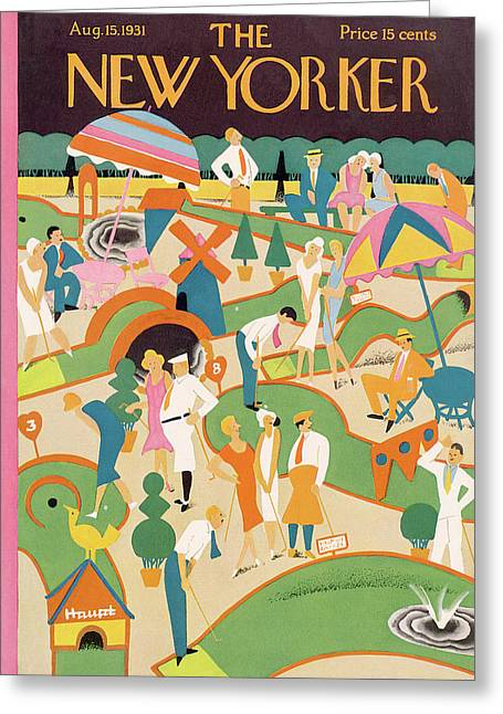 New Yorker August 15th, 1931 Greeting Card