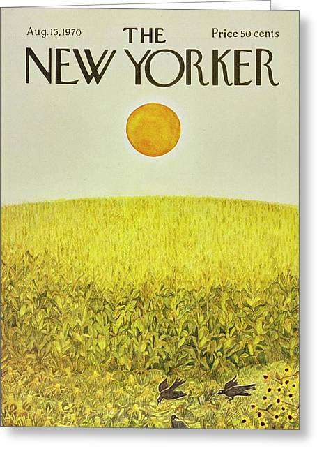 New Yorker August 15th 1970 Greeting Card