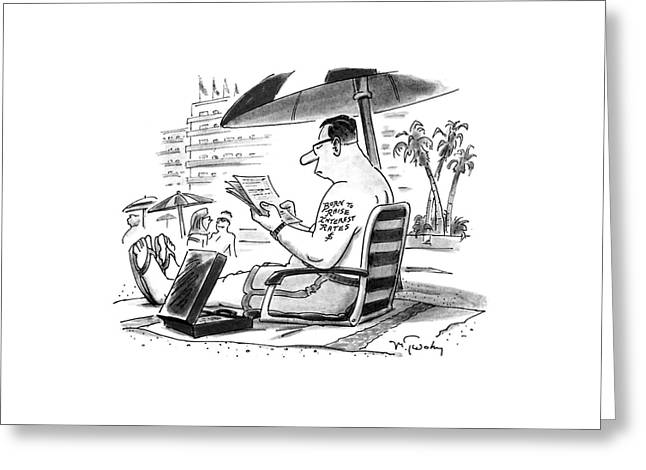 New Yorker August 15th, 1994 Greeting Card by Mike Twohy